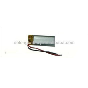 3mm Thickness 55mah 3.7v Lithium Polymer Battery 361024 for Bluetooth